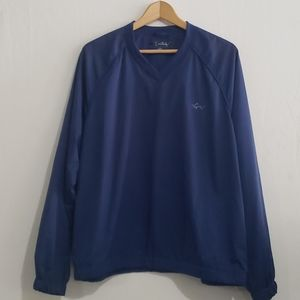 Greg Norman Blue V-Neck Pullover Windbreaker Sz M